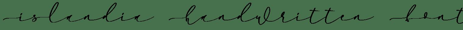 Islandia Handwritten Font