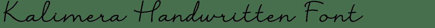 Kalimera Handwritten Font