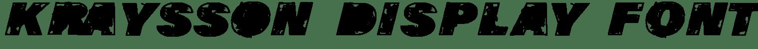 KRAYSSON Display Font