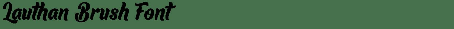 Lauthan Brush Font