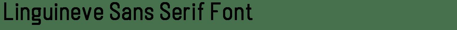 Linguineve Sans Serif Font