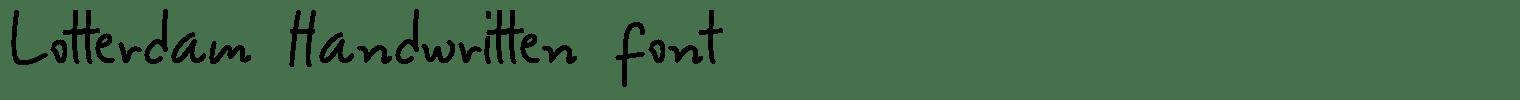 Lotterdam Handwritten Font