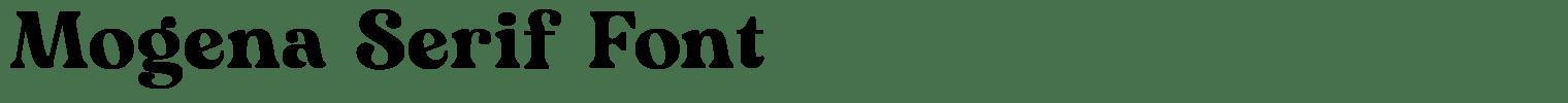 Mogena Serif Font