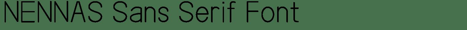 NENNAS Sans Serif Font