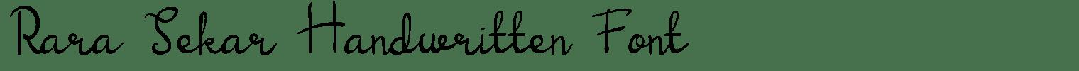 Rara Sekar Handwritten Font