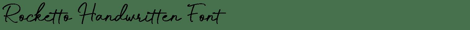 Rocketto Handwritten Font