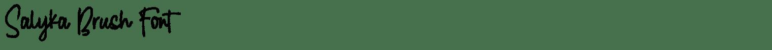 Salyka Brush Font