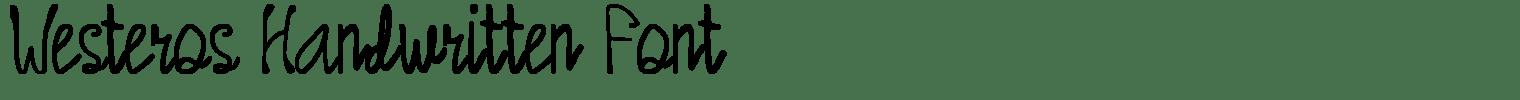 Westeros Handwritten Font