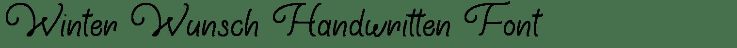 Winter Wunsch Handwritten Font