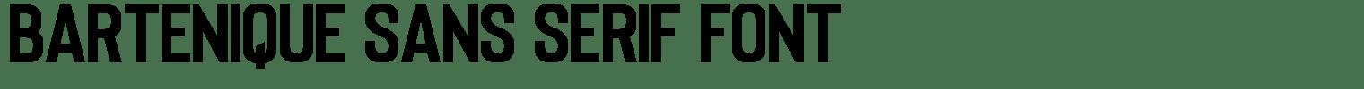Bartenique Sans serif Font