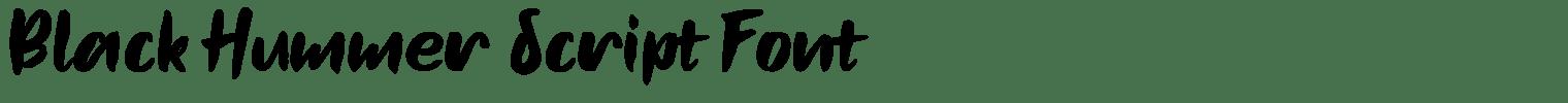 Black Hummer Script Font
