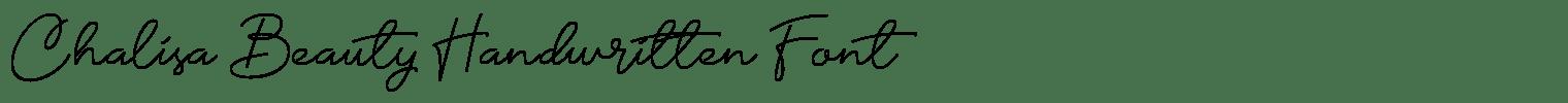 Chalisa Beauty Handwritten Font