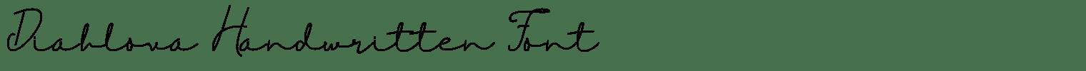 Diahlova Handwritten Font