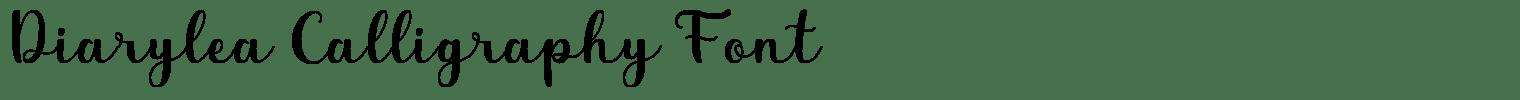 Diarylea Calligraphy Font