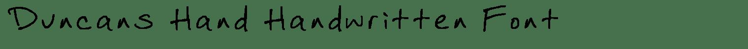Duncans Hand Handwritten Font