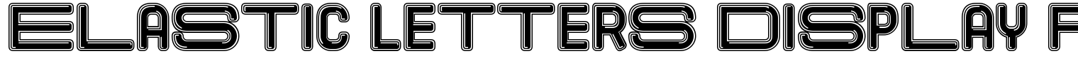 Elastic Letters Display Font