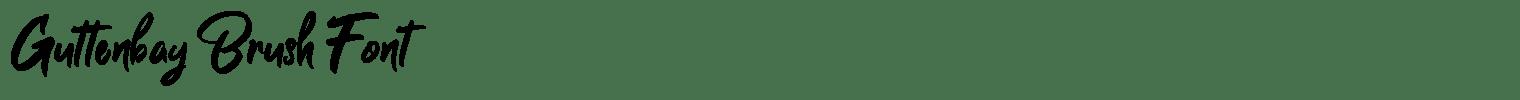 Guttenbay Brush Font