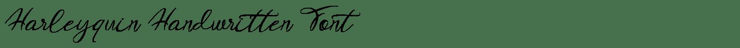 Harleyquin Handwritten Font