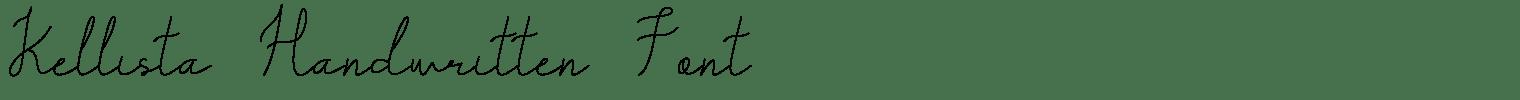 Kellista Handwritten Font