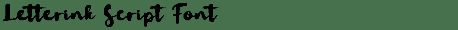 Letterink Script Font