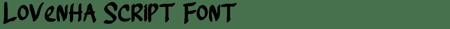 Lovenha Script Font