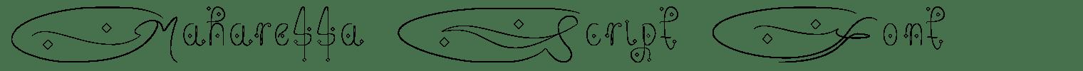 Maharessa Script Font