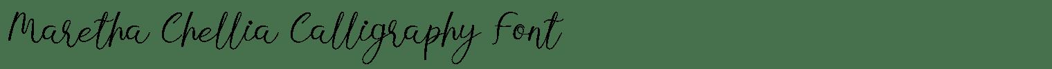 Maretha Chellia Calligraphy Font