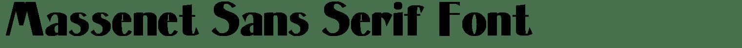 Massenet Sans Serif Font
