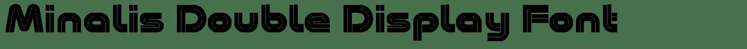 Minalis Double Display Font