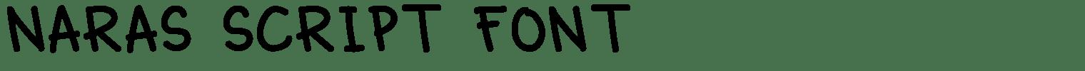 Naras Script Font