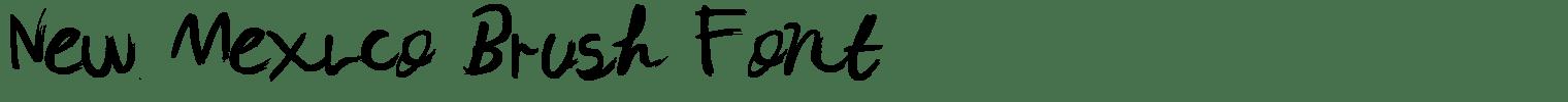 New Mexico Brush Font