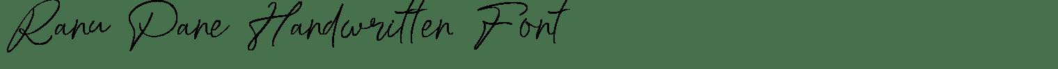 Ranu Pane Handwritten Font