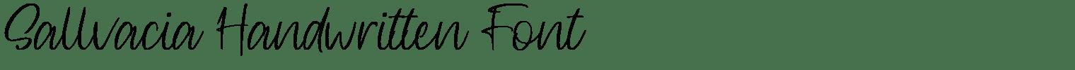 Sallvacia Handwritten Font