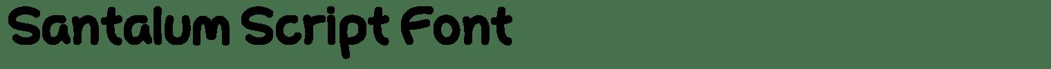 Santalum Script Font