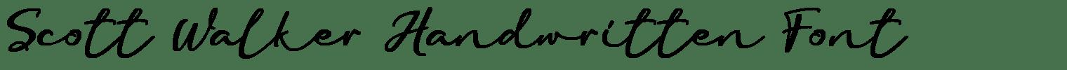 Scott Walker Handwritten Font