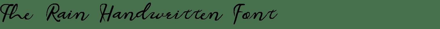 The Rain Handwritten Font