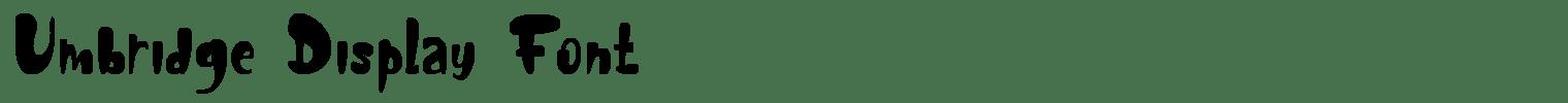 Umbridge Display Font
