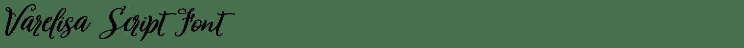Varelisa Script Font