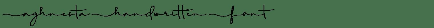 Aghnesta Handwritten Font