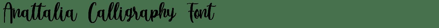 Anattalia Calligraphy Font