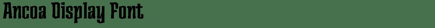 Ancoa Display Font