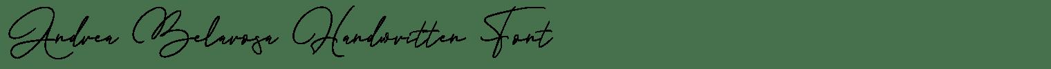 Andrea Belarosa Handwritten Font