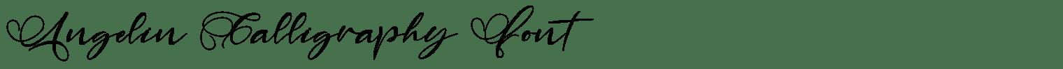 Angelin Calligraphy Font