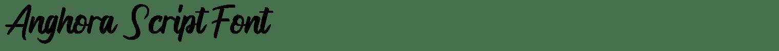Anghora Script Font