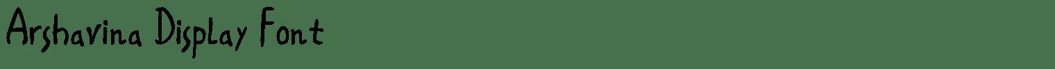 Arshavina Display Font