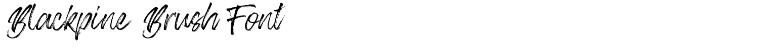 Blackpine Brush Font