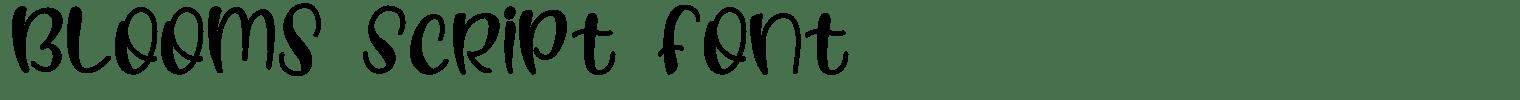 Blooms Script Font