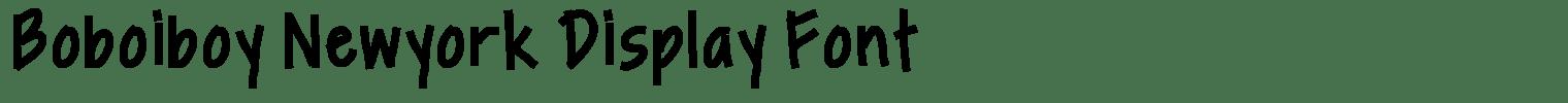 Boboiboy Newyork Display Font