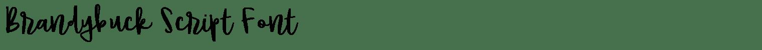 Brandybuck Script Font
