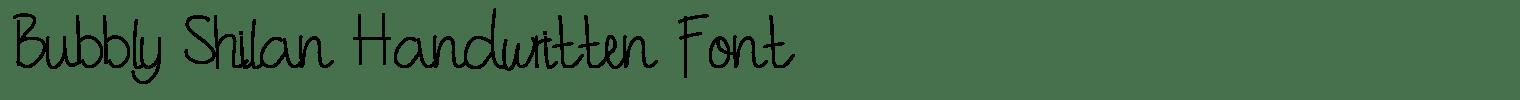 Bubbly Shilan Handwritten Font